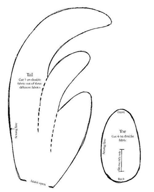 Выкройка петуха своими руками