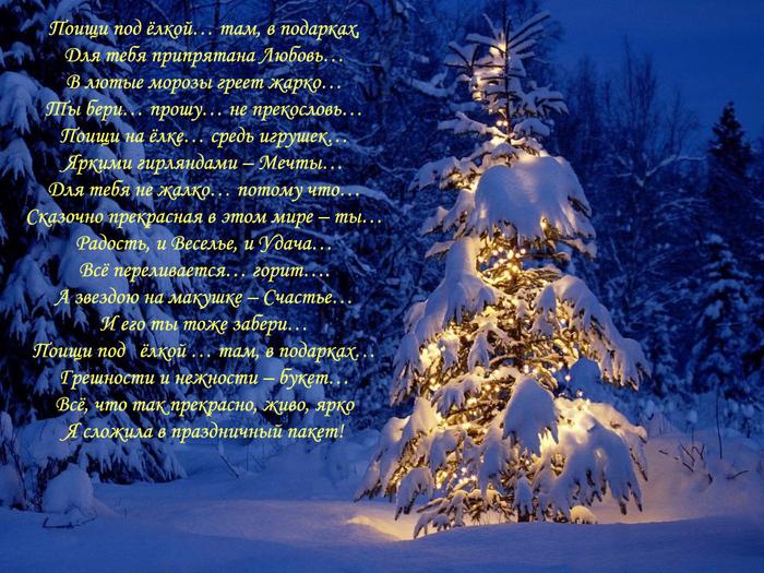 Красивое стихотворения с новым годом