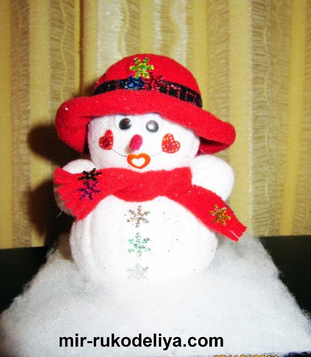 мои работы снеговик 004 (609x700, 301Kb)