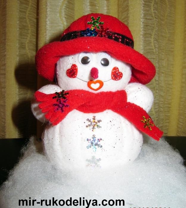 мои работы снеговик 008 (625x700, 338Kb)