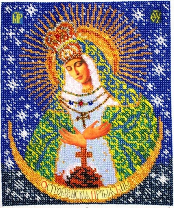 Рамка для иконы Острабрамская Богородица 19,2 х 23,3см (Радуга Бисера).  Артикул - r5161.  Категория - Рамки для икон...