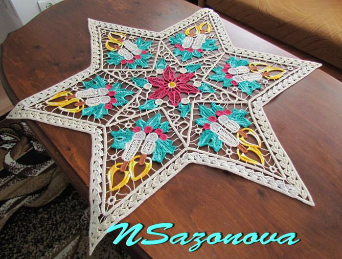 娜塔亚的罗马尼亚花边欣赏:桌垫 二 - maomao - 我随心动