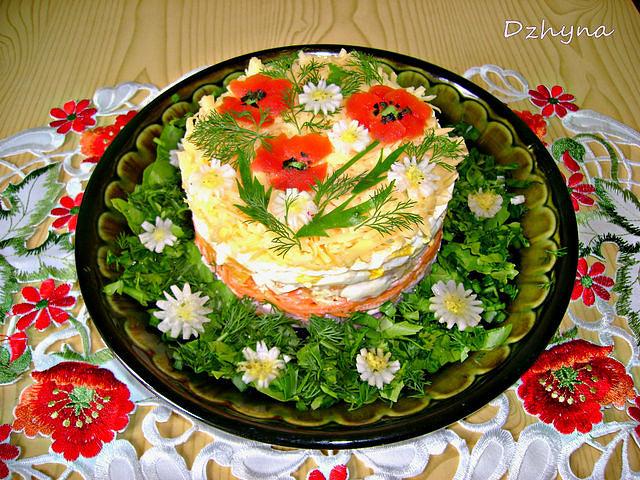 Рецепты красивых салатов с фотографиями