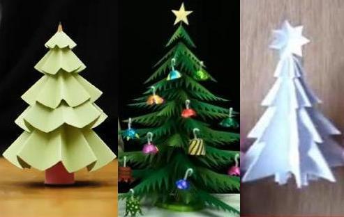 Ёлка своими руками поделка из бумаги оригами