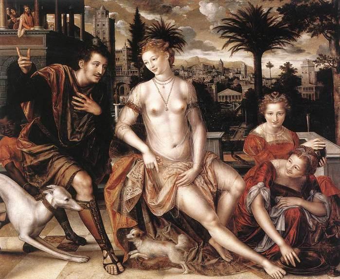 Давид и Вирсавия (700x573, 79Kb)
