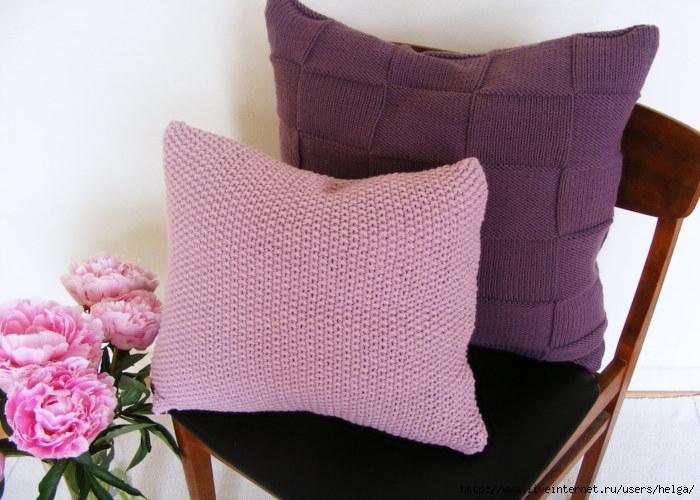 Вязание наволочек для подушек спицами