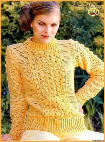 ВЯЗАНИЕ женской одежды. вязание крючком. пуловер. ссылка. вязание пуловера. вязание. схемы вязания крючком.