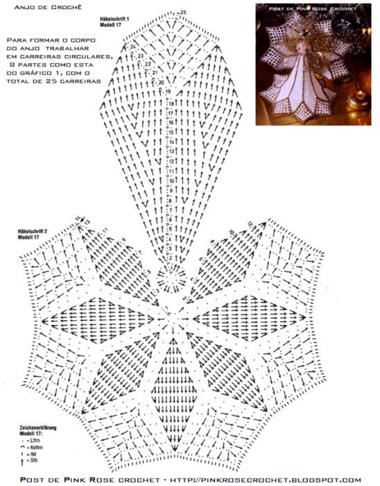 Anjo de Natal em Croche gr. PRose Crochet (548x700, 363Kb)