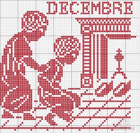 Часть 14 - Вышиваем календарь.