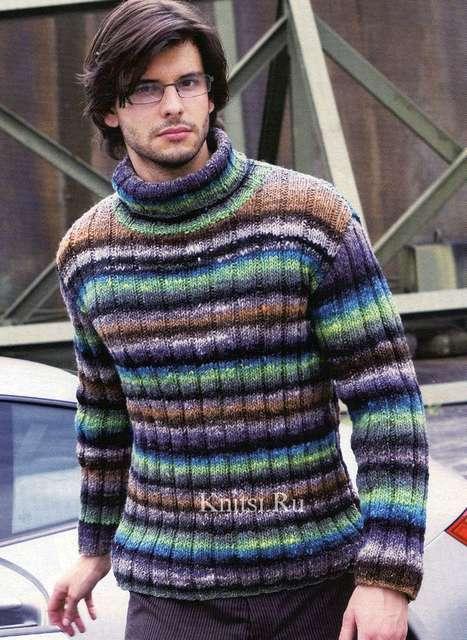 Мужской пуловер- гольф в