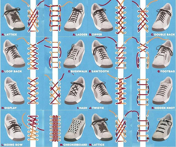Зашнуровать кроссовки красиво фото пошагово с 4 дырками