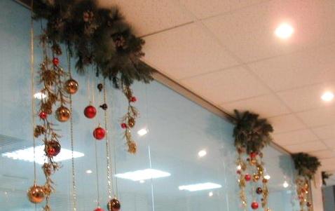 Новогоднее украшение офиса своими руками фото
