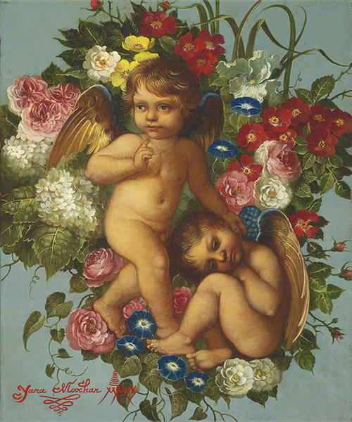 Two Cherubs (500x600, 79Kb)