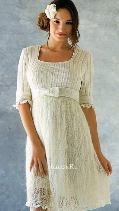 Платье с ажурной юбкой (394x700, 35Kb)