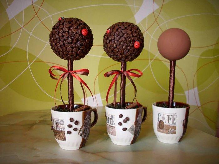 Декоративные поделки своими руками из кофейных зерен