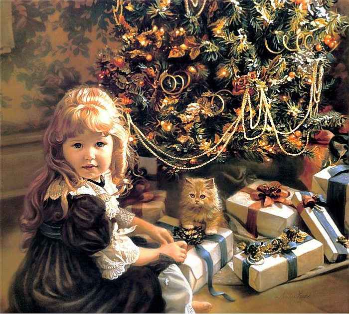 Sandra Kuck .Christmas Morning (700x629, 433Kb)