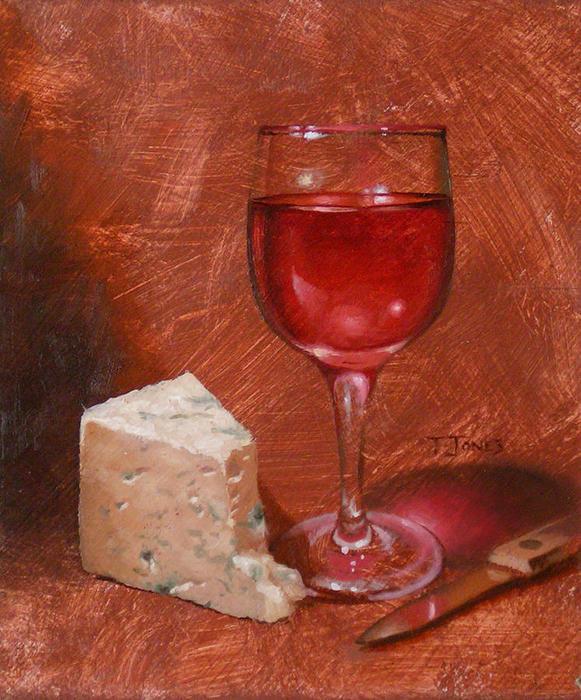 25 Timothy Jones.  Vino y Stilton (581x700, 96Kb)