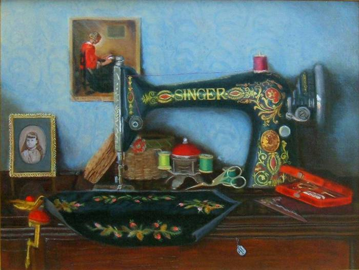 3 George Hartley (American, 1933) Hannah's Embroidery (700x528, 47Kb)