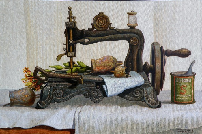 11 Ivan Stratiev Old sewing machine (700x465, 114Kb)
