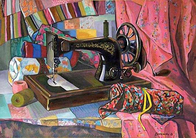 13 Ольга Ефремова Машинка Зингер (678x480, 348Kb)