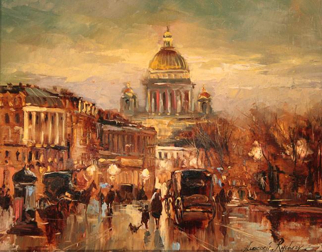 Осенний вечер на площади (650x509, 118Kb)