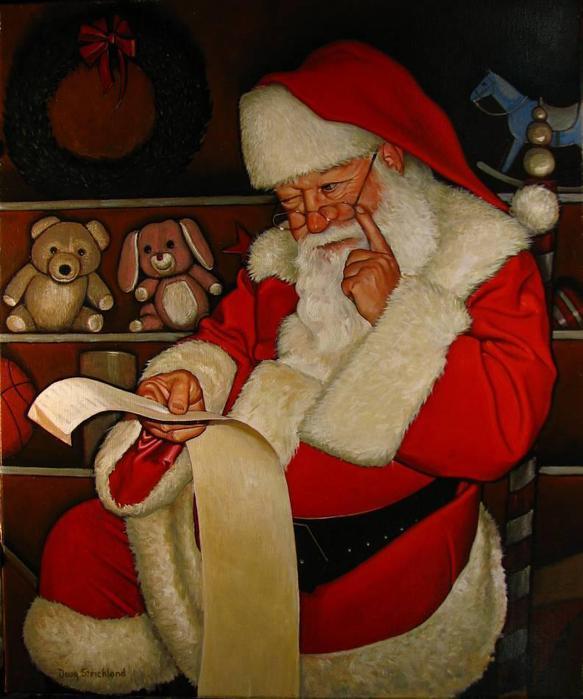 Doug Strickland.Thoughtful Santa (583x700, 50Kb)