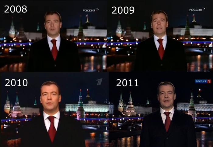Медведев поздравление новым годом прикол