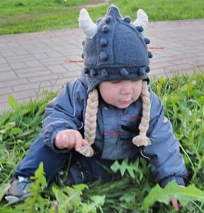 отсюда. шапочка викинга.