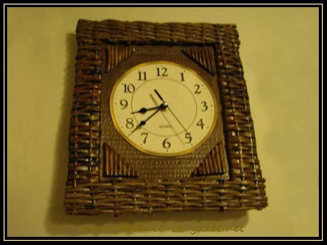 Плетеные часы свои руками 66