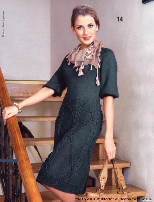 Вязание спицами - платья