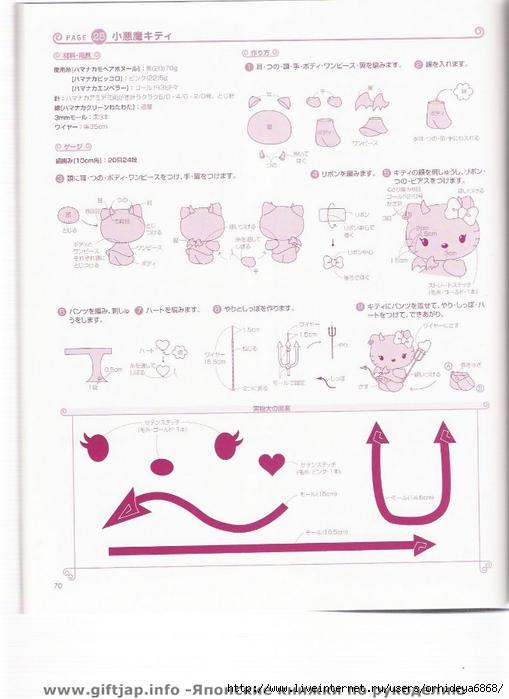 "Вязание крючком милых амигуруми Hello Kitty.  Альбом  ""Hello Kitty..."