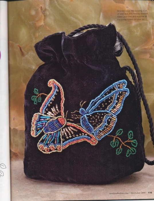 Бабочки. вышивка бисером