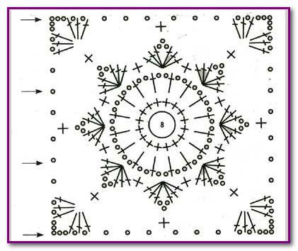 kvadrat svyazannyi kryuchkom - shema (421x354, 45Kb)