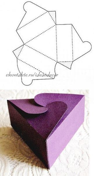 Еще шаблоны подарочной коробки, можно сделать своими руками, простые схемы.