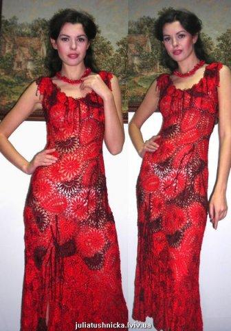 Вечерние платья с ирландским кружевом