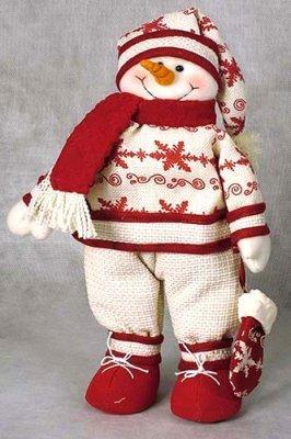 Снеговик своими руками из ткани фото