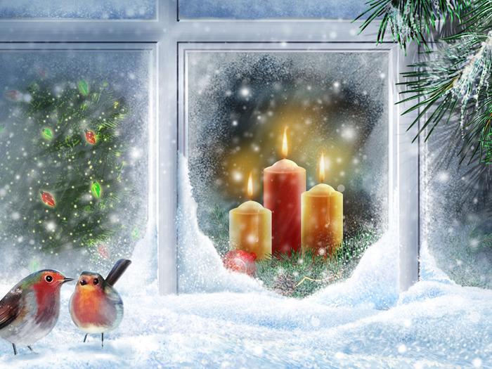 скачать новогодрие открытки
