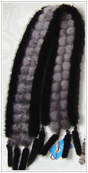 Как связать шарф из меха своими руками