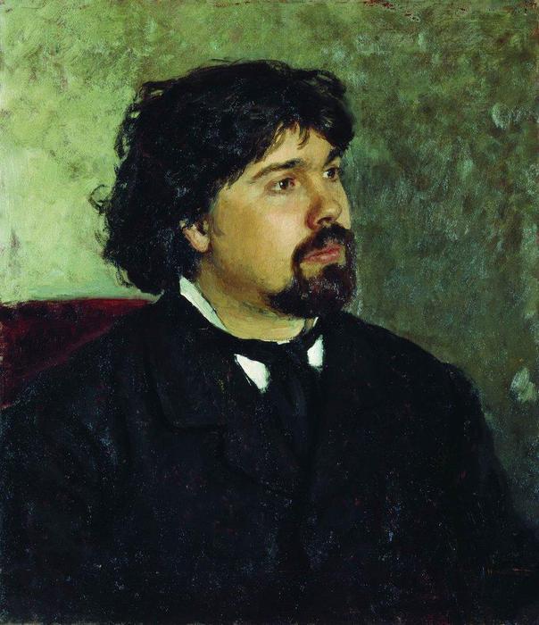 Репин  Портрет художника Сурикова (604x700, 62Kb)