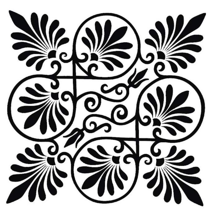 Мандалы.  Часть 6 - Квадратные орнаменты Часть 7. Индийский орнамент. трафареты.