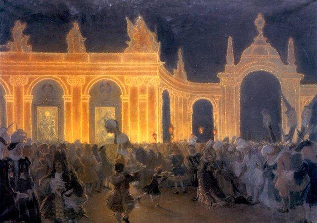 Маскарад при Людовике XIV. 1898 (640x451, 64Kb)