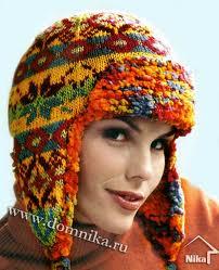 Схемы вязания шапки ушанки.