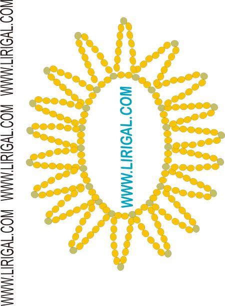 солнце из бисера схема