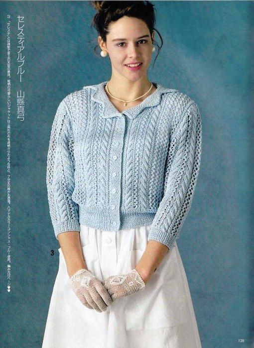 Вязание кофточек с рукавом