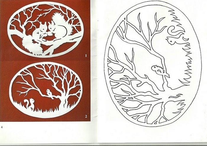 Рисунки из бумаги схемы