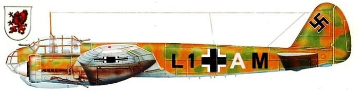 03 Ju-88A \'L1+AM\' Хелбига  (700x179, 29Kb)