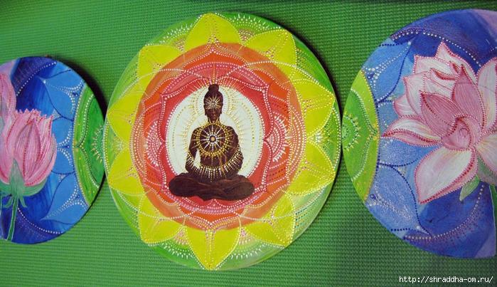 Лотосный Будда, акрил, автор Shraddha, 1 (700x403, 305Kb)