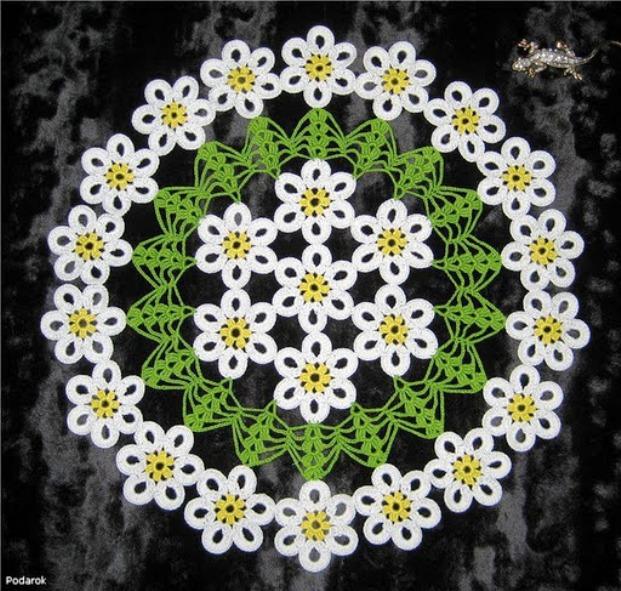 Автор: Admin Дата: 03.11.2013 Описание: Бисер белого, красного, зеленого цветов, знали белую и желтую ромашку...