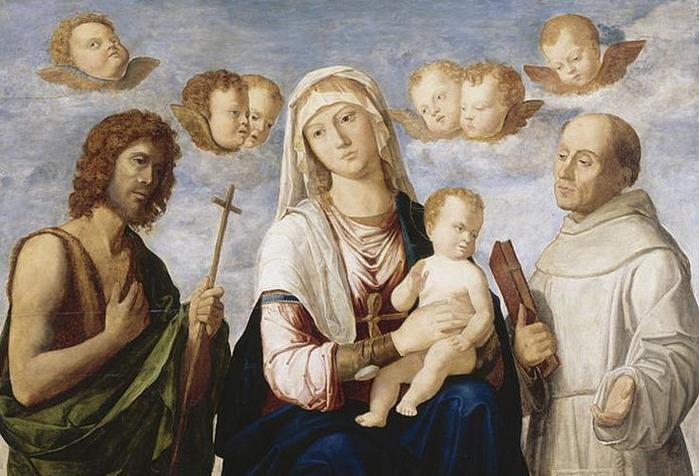 Cima_da_Conegliano,_Madonna_con_Bambino_tra_san_Giovanni_Battista_e_san_Francesco,_Avignon (700x476, 117Kb)