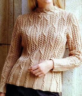 Пуловер с аранами (273x320, 44Kb)